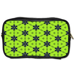 Blue Flowers Pattern Toiletries Bag (two Sides) by LalyLauraFLM