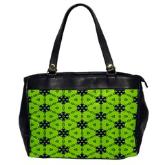 Blue Flowers Pattern Oversize Office Handbag (one Side) by LalyLauraFLM