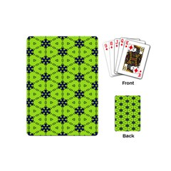 Blue Flowers Pattern Playing Cards (mini) by LalyLauraFLM