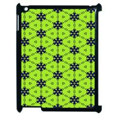 Blue Flowers Pattern Apple Ipad 2 Case (black) by LalyLauraFLM