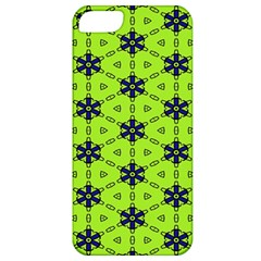 Blue Flowers Pattern Apple Iphone 5 Classic Hardshell Case by LalyLauraFLM