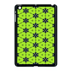 Blue Flowers Pattern Apple Ipad Mini Case (black) by LalyLauraFLM