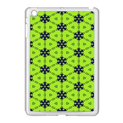 Blue Flowers Pattern Apple Ipad Mini Case (white) by LalyLauraFLM