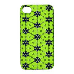 Blue Flowers Pattern Apple Iphone 4/4s Hardshell Case With Stand by LalyLauraFLM