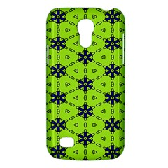 Blue Flowers Pattern Samsung Galaxy S4 Mini (gt I9190) Hardshell Case  by LalyLauraFLM