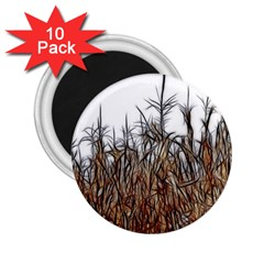 Abstract Of A Cornfield 2 25  Button Magnet (10 Pack)