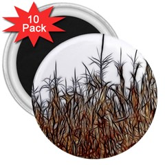 Abstract Of A Cornfield 3  Button Magnet (10 Pack) by bloomingvinedesign