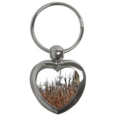 Abstract Of A Cornfield Key Chain (heart) by bloomingvinedesign