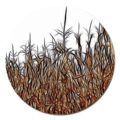 Abstract Of A Cornfield Magnet 5  (round) by bloomingvinedesign