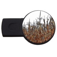 Abstract Of A Cornfield 2gb Usb Flash Drive (round) by bloomingvinedesign