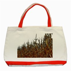 Abstract Of A Cornfield Classic Tote Bag (red) by bloomingvinedesign