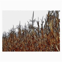 Abstract Of A Cornfield Glasses Cloth (large, Two Sided)