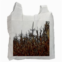 Abstract Of A Cornfield White Reusable Bag (two Sides) by bloomingvinedesign