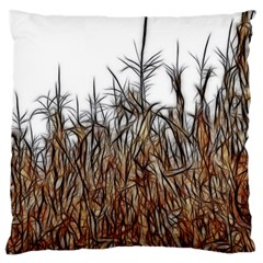 Abstract Of A Cornfield Large Cushion Case (single Sided)