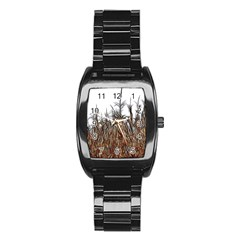 Abstract Of A Cornfield Stainless Steel Barrel Watch