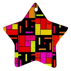 Squares And Rectangles Ornament (star) by LalyLauraFLM