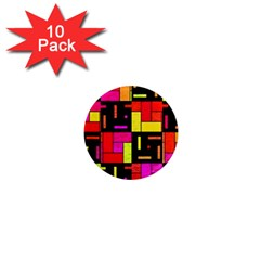 Squares And Rectangles 1  Mini Magnet (10 Pack)  by LalyLauraFLM