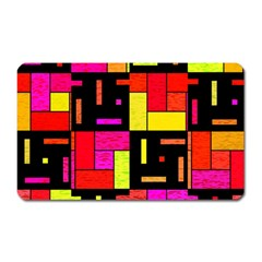 Squares And Rectangles Magnet (rectangular) by LalyLauraFLM