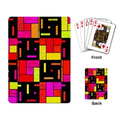 Squares And Rectangles Playing Cards Single Design by LalyLauraFLM