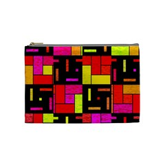 Squares And Rectangles Cosmetic Bag (medium) by LalyLauraFLM