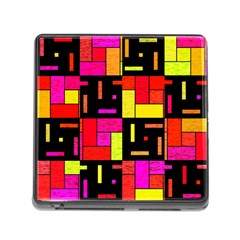 Squares And Rectangles Memory Card Reader With Storage (square) by LalyLauraFLM