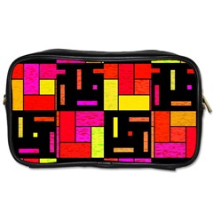 Squares And Rectangles Toiletries Bag (two Sides) by LalyLauraFLM