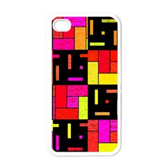 Squares And Rectangles Apple Iphone 4 Case (white) by LalyLauraFLM