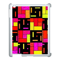 Squares And Rectangles Apple Ipad 3/4 Case (white) by LalyLauraFLM