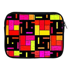 Squares And Rectangles Apple Ipad 2/3/4 Zipper Case by LalyLauraFLM