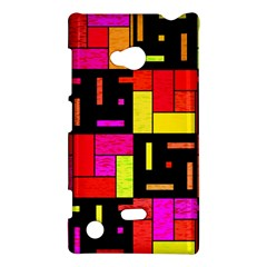 Squares And Rectangles Nokia Lumia 720 Hardshell Case by LalyLauraFLM