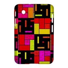 Squares And Rectangles Samsung Galaxy Tab 2 (7 ) P3100 Hardshell Case  by LalyLauraFLM
