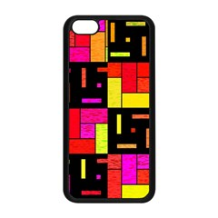 Squares And Rectangles Apple Iphone 5c Seamless Case (black) by LalyLauraFLM