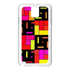 Squares And Rectangles Samsung Galaxy Note 3 N9005 Case (white) by LalyLauraFLM