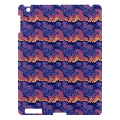 Pink Blue Waves Pattern Apple Ipad 3/4 Hardshell Case by LalyLauraFLM