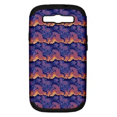 Pink Blue Waves Pattern Samsung Galaxy S Iii Hardshell Case (pc+silicone) by LalyLauraFLM