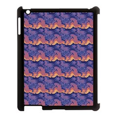 Pink Blue Waves Pattern Apple Ipad 3/4 Case (black)