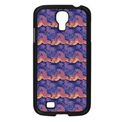 Pink Blue Waves Pattern Samsung Galaxy S4 I9500/ I9505 Case (black) by LalyLauraFLM