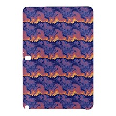 Pink Blue Waves Pattern Samsung Galaxy Tab Pro 12 2 Hardshell Case by LalyLauraFLM