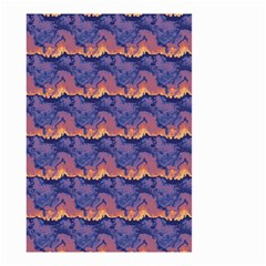 Pink Blue Waves Pattern Small Garden Flag (two Sides) by LalyLauraFLM