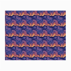 Pink Blue Waves Pattern Glasses Cloth (small, Two Sides) by LalyLauraFLM