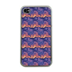 Pink Blue Waves Pattern Apple Iphone 4 Case (clear) by LalyLauraFLM
