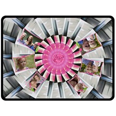 Pretty Pin Wheel Double Fleece Blanket (large) By Deborah   Double Sided Fleece Blanket (large)   R5ypk5nk8f6f   Www Artscow Com 80 x60 Blanket Front