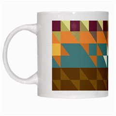 Shapes In Retro Colors White Mug by LalyLauraFLM