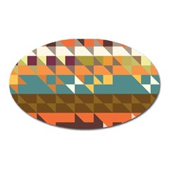 Shapes In Retro Colors Magnet (oval) by LalyLauraFLM