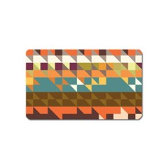 Shapes in retro colors Magnet (Name Card) by LalyLauraFLM