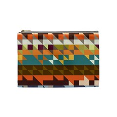 Shapes In Retro Colors Cosmetic Bag (medium) by LalyLauraFLM