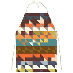 Shapes In Retro Colors Full Print Apron by LalyLauraFLM