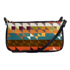 Shapes In Retro Colors Shoulder Clutch Bag by LalyLauraFLM