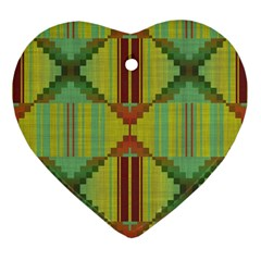 Tribal Shapes Ornament (heart) by LalyLauraFLM