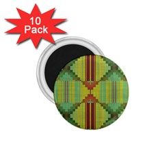 Tribal Shapes 1 75  Magnet (10 Pack)  by LalyLauraFLM